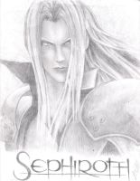 Sephiroth Sketch by friedChicken365