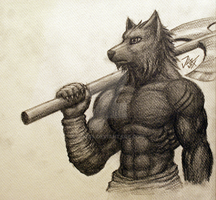 Werewolf Warrior 2 by Jugg4