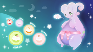 Goodra and PokePuffs by littlepolka