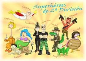 Second-class Superheroes by Fadri