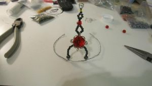 The beginnings of my first beaded Tiara by Arachnoid