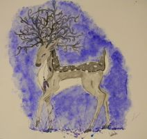 Fantasy Deer by ivy-kitty