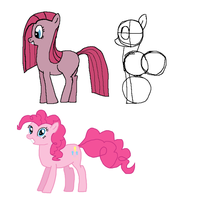 pinkie pie sketches 1 and 2 by Koeper