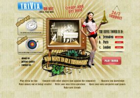 Trivia on Net - landing by parado-x