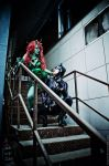 Poison Ivy and Catwoman by TaisiaFlyagina