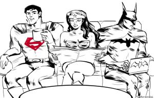 DC Trinity by flutterdoodle