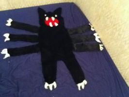 Black 8 legged cat rug by MonstrositiesNZ