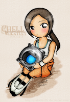 Chell + Wheatley by yesbutterfly