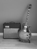 Epiphone Les Paul with Vox amp by mrhines1