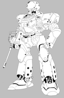 Helldiver clean lineart by ltla9000311