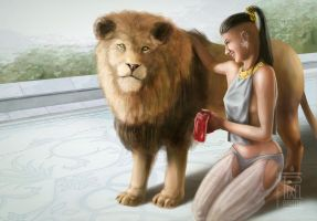 The lion and the princess by FedeSchroe