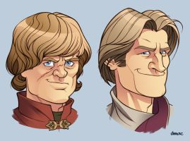 The Lannister Bros. by D-MAC