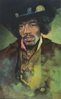 Jimi Hendrix by johnstevensartist