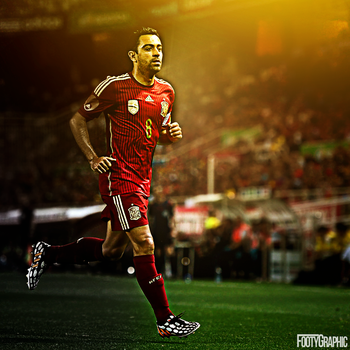 Xavi Hernandez by Footygraphic