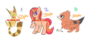 Adoptablessss by cocoasaurus