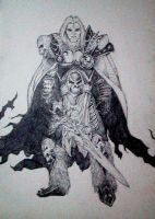 Prince Arthas Of Warcraft III by kean