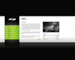 Webdesign - Cirya music by Noergaard