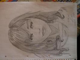 Attempt real drawing style -Me by LouSan