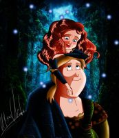 Merida And Macguffin by DangerMask
