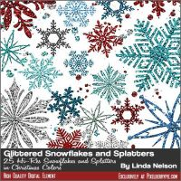 25 Glitter Snowflakes Graphics by pixelberrypie