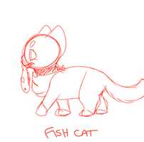 Cat Fish -- Walk Cycle by rattarie