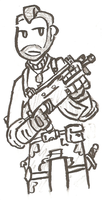 MW3 - John 'Soap' MacTavish by Awesome-Leaf