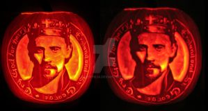 Henry V pumpkin by Theophilia