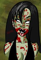 Zombie Babe Portrait by WatchTehTail