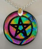Rainbow Pentacle Pendant by poisons-sanity