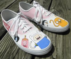 Pink Adventure Time Shoes by Misfit-Mistress