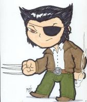 Chibi-Wolverine as Patch. by hedbonstudios