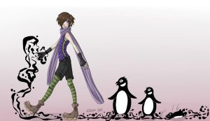 The Penguin March by MadameNyx