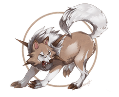 Lycanroc by CatherineSt