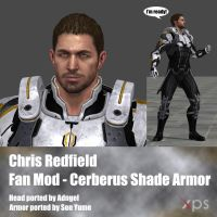 Chris Redfield Fan Mod Cerberus Shade Armor by Adngel