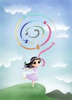 Ribbon Labyri- madmoiselleclau by childrensillustrator