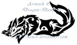 Tribal Wolf Commission by DansuDragon
