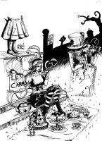 Graveyard Tea Party by crazydiary86