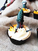 Zetsu cupcake by I-am-Ginger-Pops