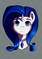 Rarity Portrait by Blablashmo