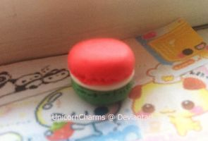 Flag of Italy Inspired Macarons by UnicornCharms