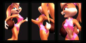 Lola Bunny Swimsuit 03 by KP-ShadowSquirrel
