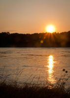 Cape Cod Canal sunset by speedofmyshutter