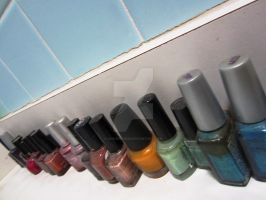 Nail Polish Rainbow by quickwing23