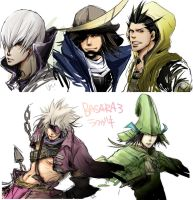 sketch of BASARA characters by soak1111