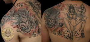 Koi Pinup New School by 2Face-Tattoo