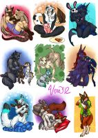 Favorite Plushie Commissions Set 3 by v-e-r-a