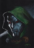 dr doom on black by LucaStrati