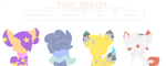 .:Four Hearts - Opening Menu:. by caticoo