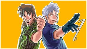 Kaiji and Akagi by TracyWilliams