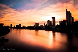 Frankfurt, the river by alierturk